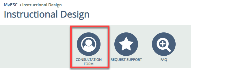 Image of the Instructional Design Consultation Form