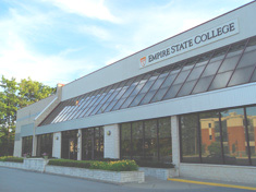 Photo of the college's administrative building at 111 West Ave, where Empire State College has its Saratoga Springs office.