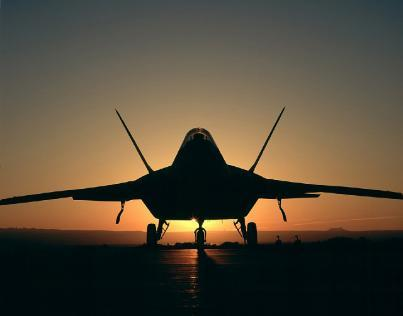 Silhouette of a jet good for AF or Navy posts on OVME site