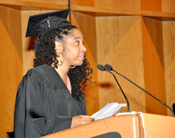 Student speaker Chana Hamilton reflects on her journey to completing her bachelor's degree with the college.