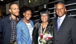Valerie Irby '13, and her husband Steven, at right, are joined by their son Steven and daughter Lauren.