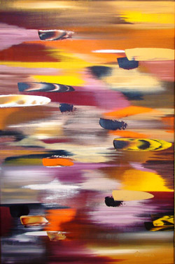 """Pleasure,"" an abstract acrylic on canvas, by Stephen O'Donnell Sr., garnered first place. (Image supplied by the artist)"