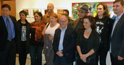 Participating artists with Associate Dean Chris Whann and Mentor Raul Manzano