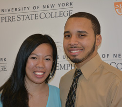 Danny Ferreyra, seen here with his fiancée Quyen Nguyen, is a 2014 recipient of the Chancellor's Award for Student Excellence. Photo/Empire State College