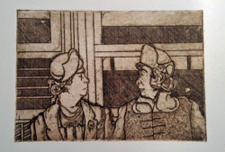 """Did You Hear,"" a print of an etching by SUNY Empire State College student José Colón, has been selected for the 2014 Best of SUNY Art Exhibition."