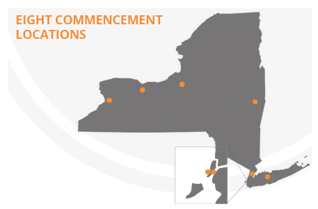 Locations for 2015 SUNY Empire State College Commencement