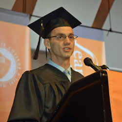 Nicholas Coppola was selected as a student speaker for the 2015 commencement ceremony held on Long Island.