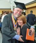 Edward Shevlin III, seen here with his wife Mary Ellen, was selected as a student speaker for the college's 2015 commencement ceremony held on Long Island