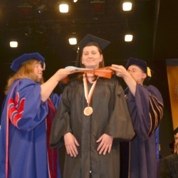 Tara Brettholtz was presented with the Dean's Medal for her outstanding academic achievements as a graduate student. Photo/Empire State College